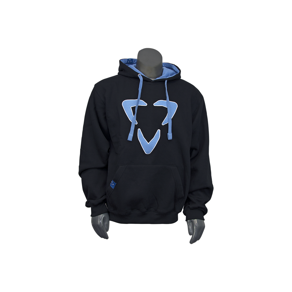 HODLXBLK_BLU-FRONT-Luxe Paintball Hoodie Pull Over Sweatshirt
