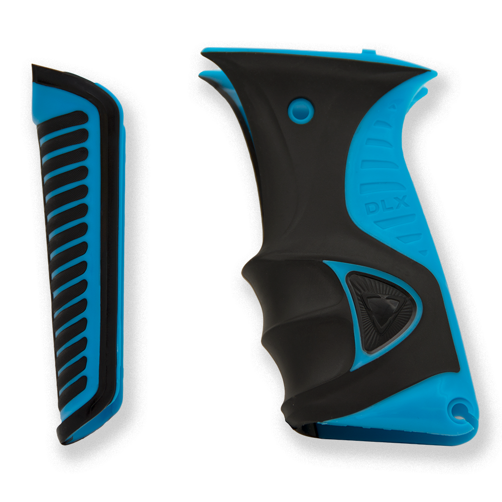 Luxe ICE Paintball Marker Grips - Cyan